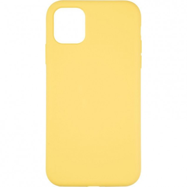 Original Full Soft Case for iPhone 11 Canary Yellow (without logo)