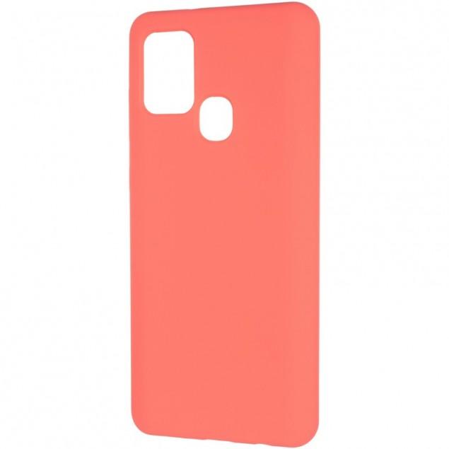 Original 99% Soft Matte Case for Samsung A217 (A21s) Rose Red