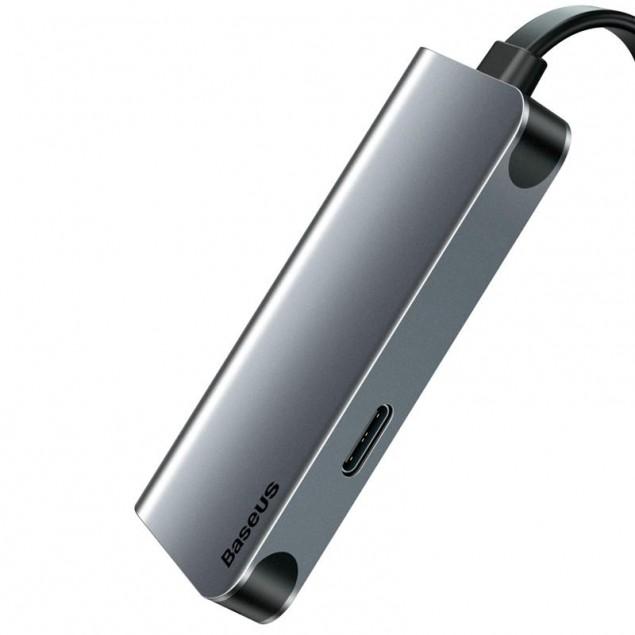 Adapter Baseus Little Box (CAHUB-E0G) Type-C to HDMI+Type-C Smart HUB Converter Grey