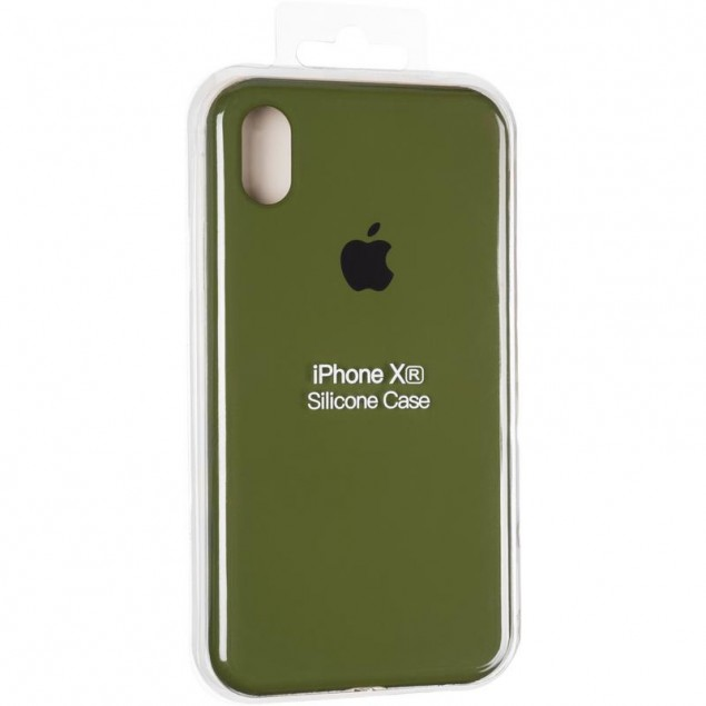 Original Full Soft Case for iPhone XR Pinery Green