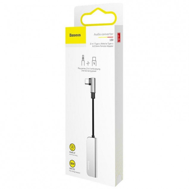 Adapter Baseus L53 Type-C Male to 3.5mm+Type-C Female
