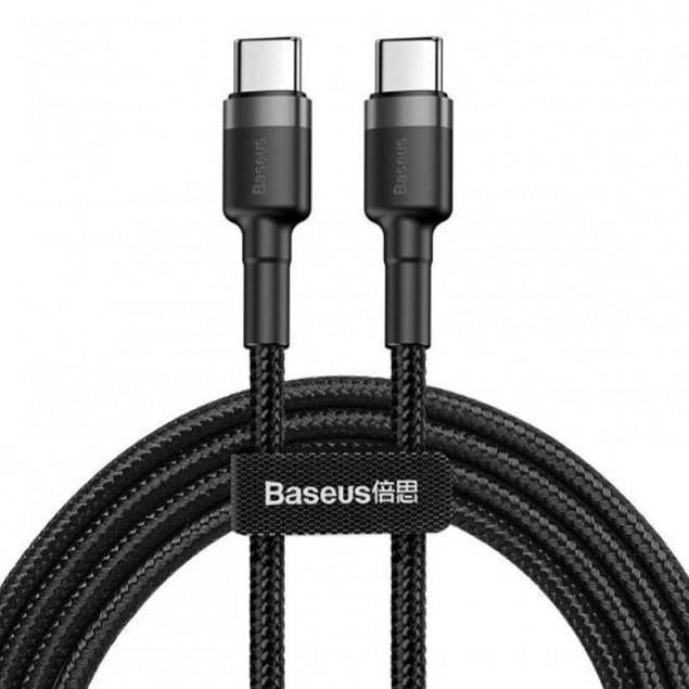 Cable Baseus Cafule Type-C/Type-C (CATKLF-HG1) Black 2m