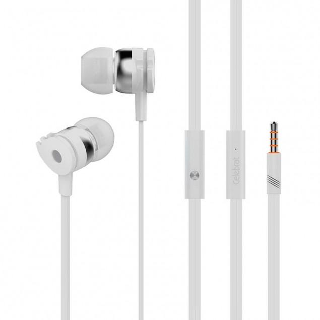 HF MP3 Celebrat D1 White + mic + button call answering