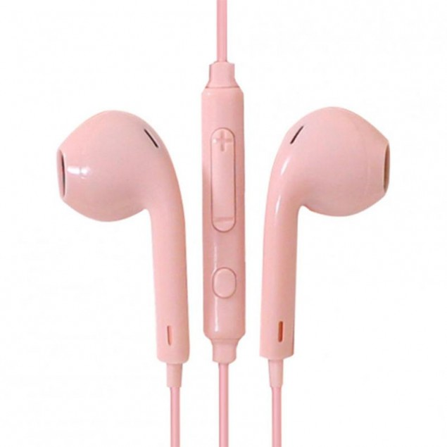 HF Hoco M55 Pink + mic + button call answering + volume control