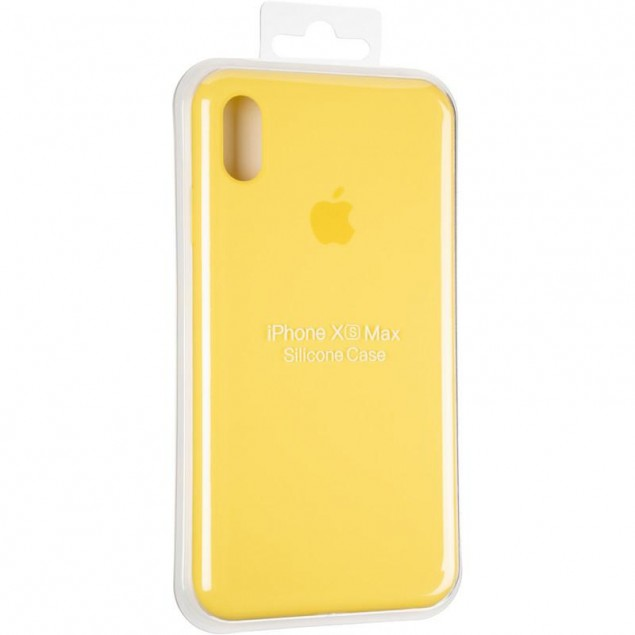 Original Full Soft Case for iPhone XS Max Canary Yellow