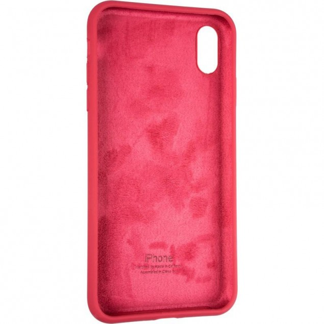 Original Full Soft Case for iPhone XS Max Garnet