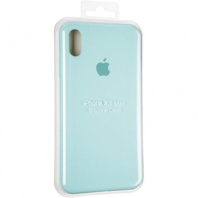 Original Full Soft Case for iPhone XS Max Ice Sea Blue