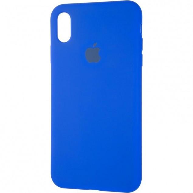 Original Full Soft Case for iPhone XS Max Sapphire Blue
