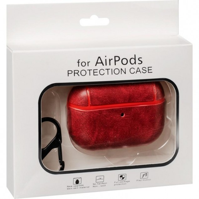 Leather Case AirPods Pro Red