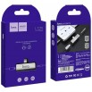 Adapter Hoco LS25 2in1 Lightning -> Lightning + 3.5mm Silver