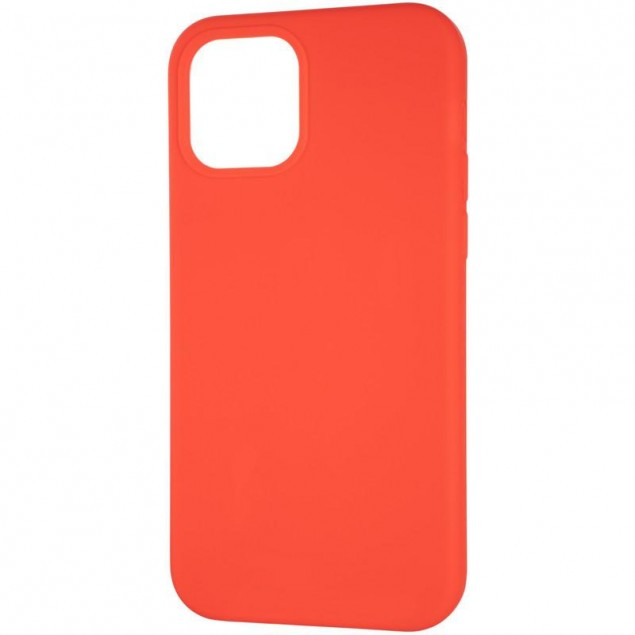 Original Full Soft Case for iPhone 12/12 Pro Red (without logo)
