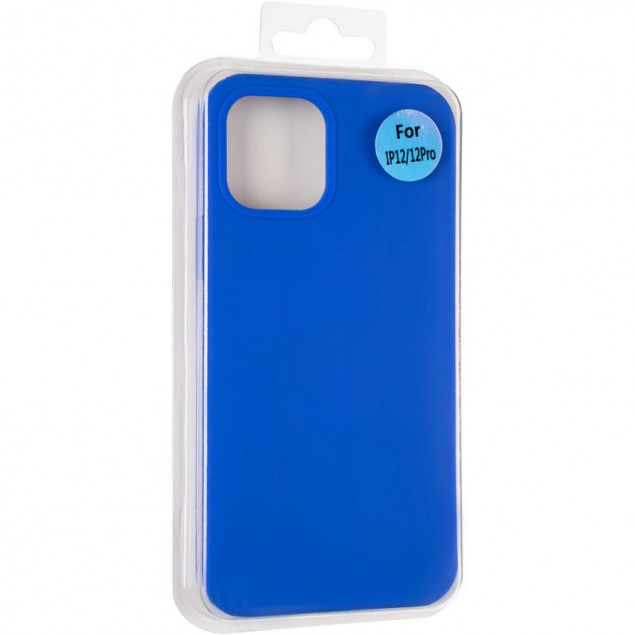 Original Full Soft Case for iPhone 12/12 Pro Sapphire Blue (without logo)