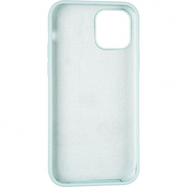 Original Full Soft Case for iPhone 12/12 Pro Ice Sea Blue (without logo)
