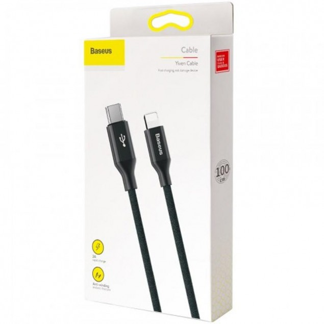 Cable Baseus Yiven Type-C/Lightning (CATLYW-C01) Black