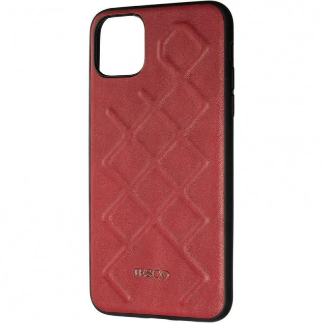 Jesco Leather Case for iPhone 11 Pro Max Red