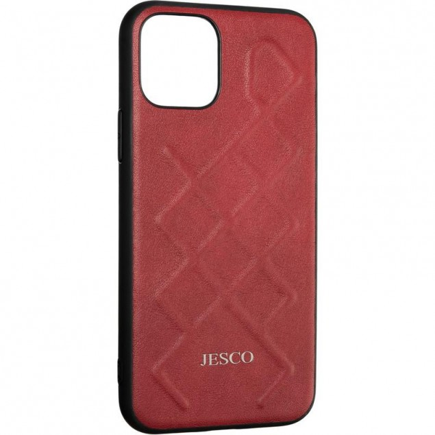 Jesco Leather Case for iPhone 11 Pro Red