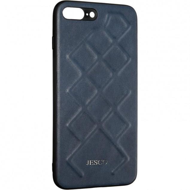 Jesco Leather Case for iPhone 7 Plus/8 Plus Blue