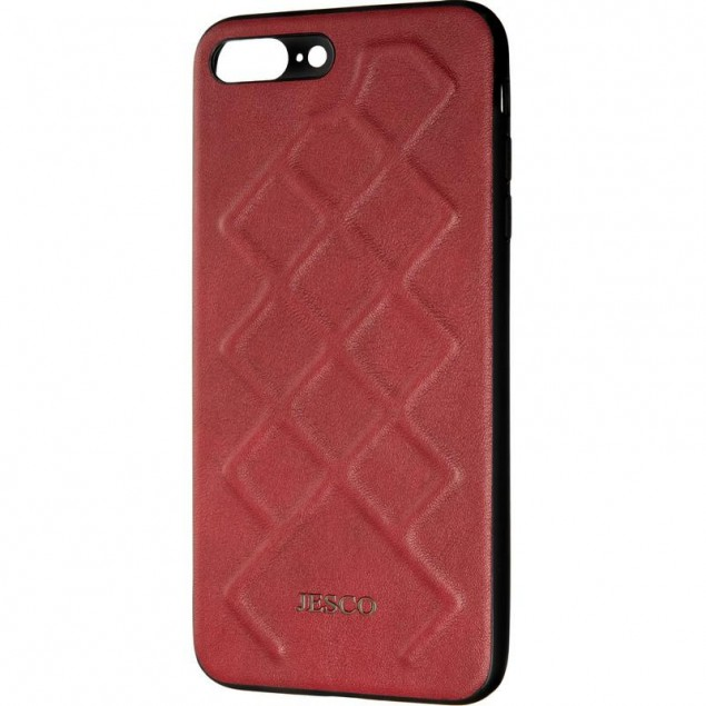 Jesco Leather Case for iPhone 7 Plus/8 Plus Red