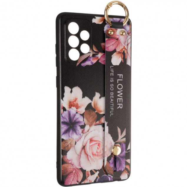 Flower Rope Case for Samsung A725 (A72) Black
