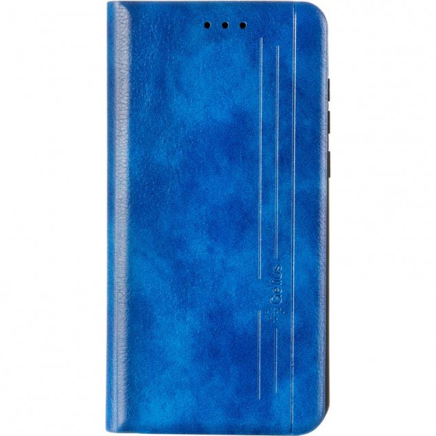 Book Cover Leather Gelius New for Huawei Y5 (2019) Blue