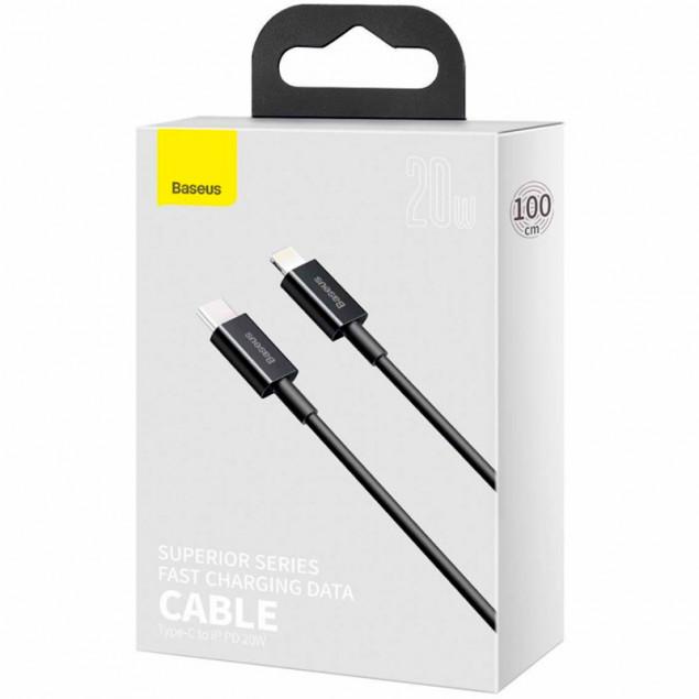 Cable Baseus Superior Series Type-C/Lightning 20W (CATLYS-A01) Black 1m