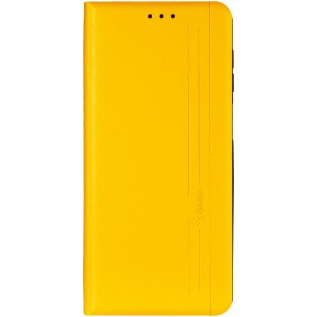 Book Cover Leather Gelius New for Samsung M515 (M51) Yellow