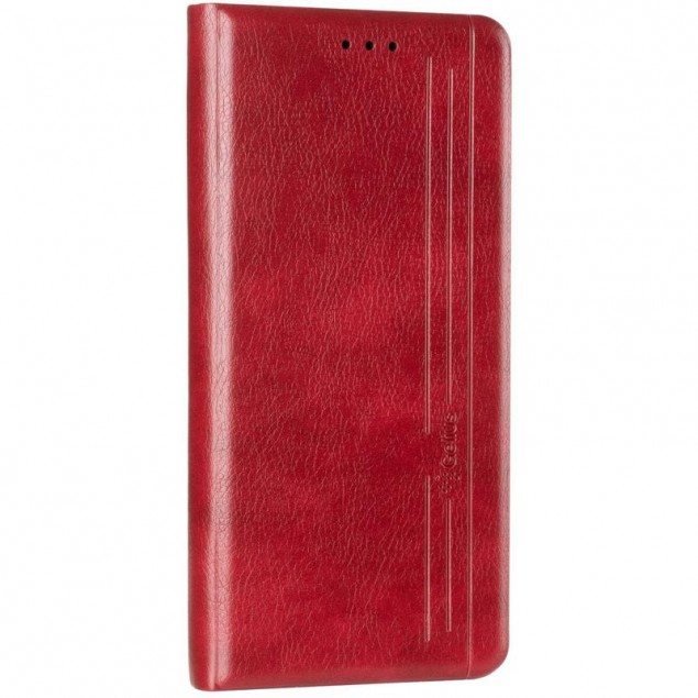 Book Cover Leather Gelius New for Realme 6 Pro Red