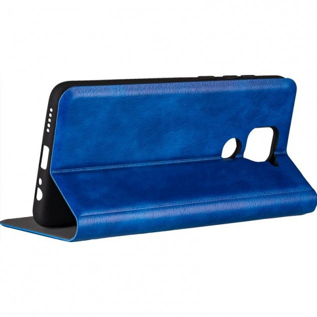 Book Cover Leather Gelius New for Xiaomi Redmi Note 9 Blue