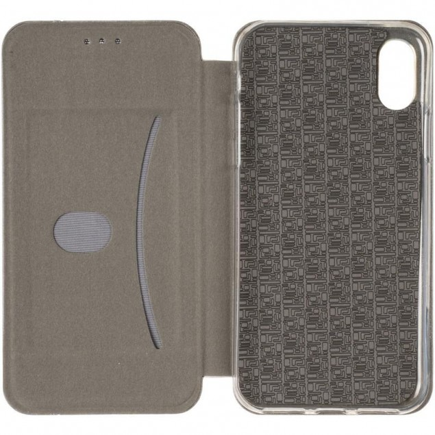 Book Cover Leather Gelius for iPhone X Grey