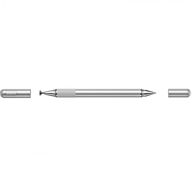 Baseus Golden Cudgel Capacitive Stylus Pen 2in1 Silver (Ручка-стилус)