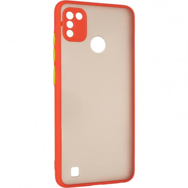 Gelius Bumper Mat Case for Tecno Pop 4 Pro Red