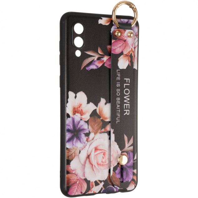 Flower Rope Case for Samsung A022 (A02) Black