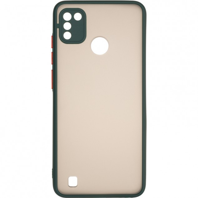 Gelius Bumper Mat Case for Tecno Pop 4 Pro Green