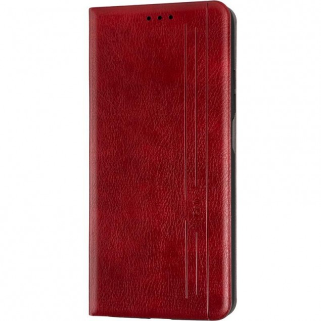 Book Cover Leather Gelius New for Xiaomi Mi 10t Red