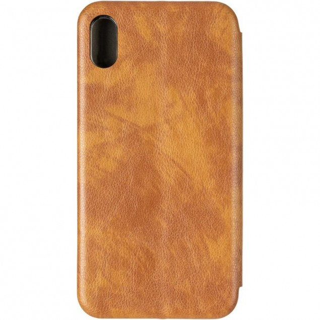 Book Cover Leather Gelius for iPhone XS Max Gold