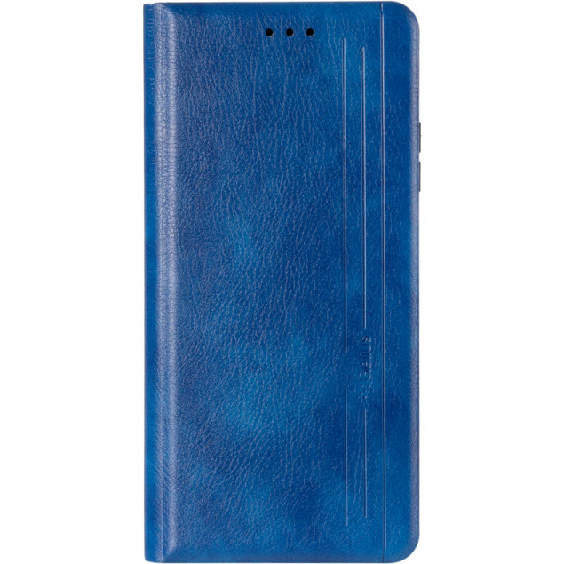 Book Cover Leather Gelius New for Xiaomi Redmi Note 9T Blue