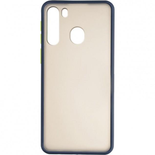 Gelius Bumper Mat Case for Samsung A215 (A21) Blue