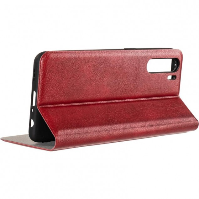Book Cover Leather Gelius New for Oppo A91 Red