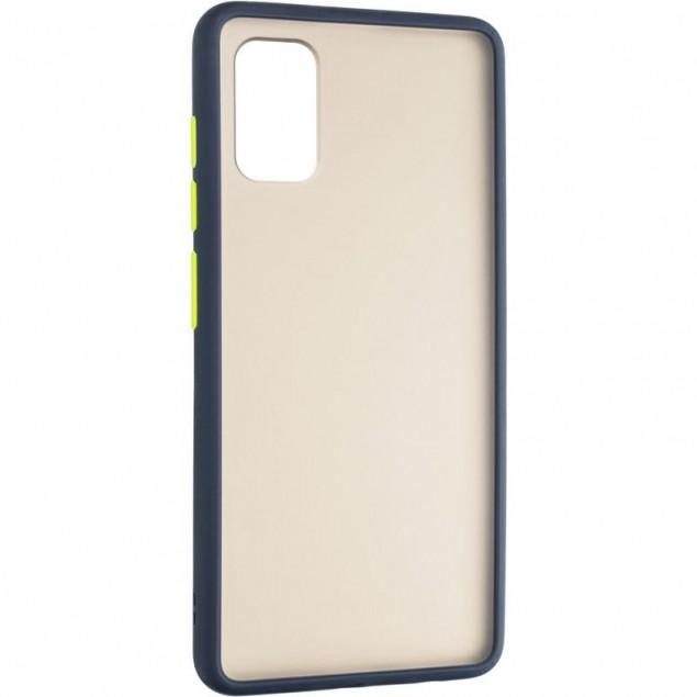 Gelius Bumper Mat Case for Samsung A415 (A41) Blue
