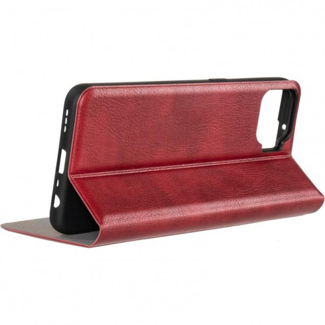 Book Cover Leather Gelius New for Oppo A73 Red