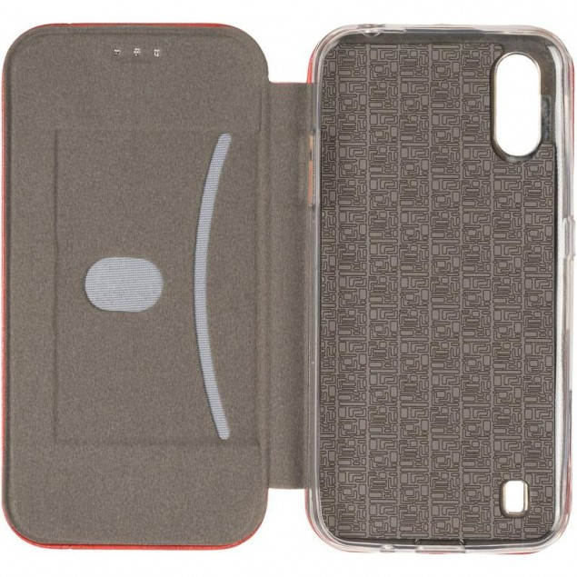 Book Cover Leather Gelius for Samsung A015 (A01)/M015 (M01) Red