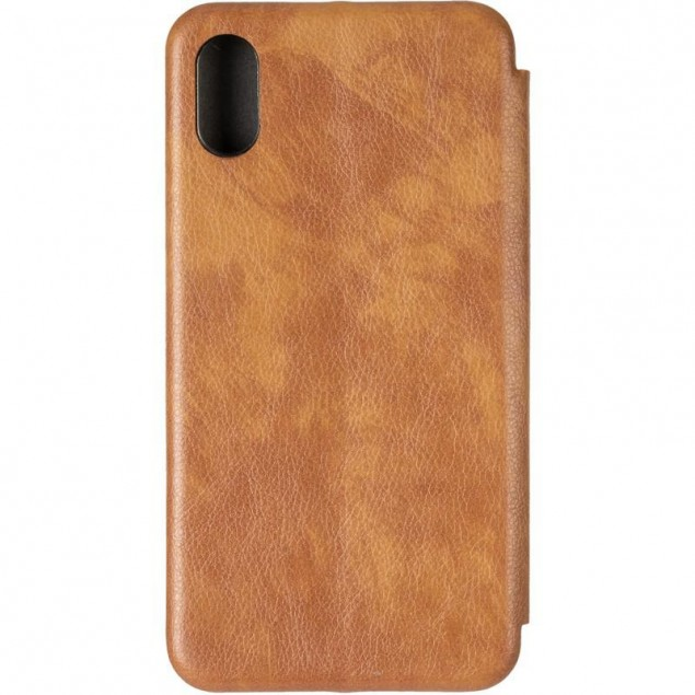 Book Cover Leather Gelius for iPhone X Gold