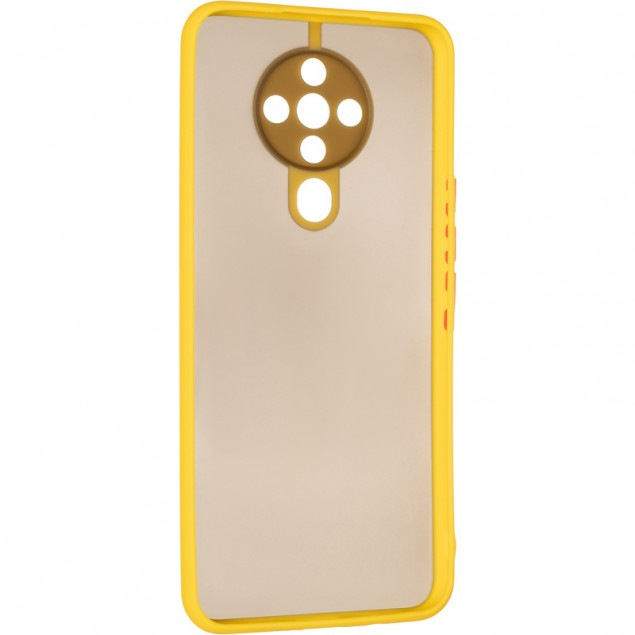 Gelius Bumper Mat Case for Tecno Spark 6 Yellow