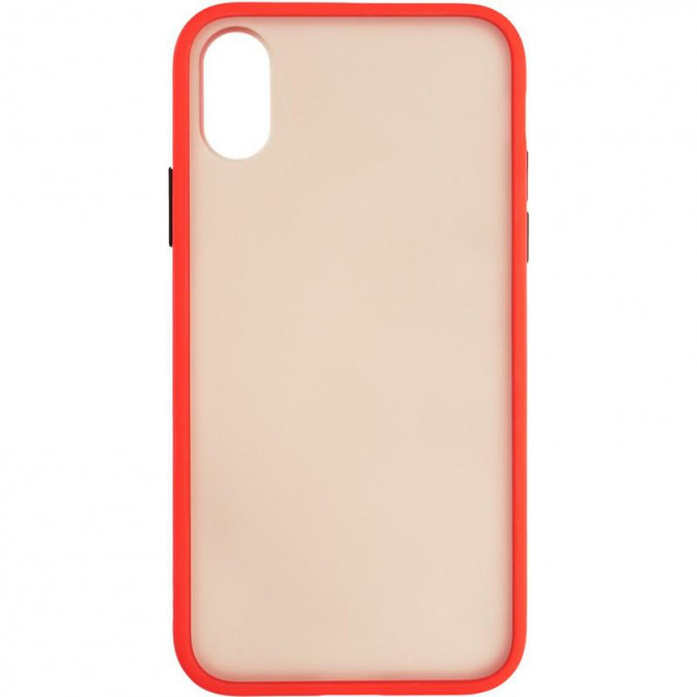 Gelius Bumper Mat Case for iPhone X/XS Red