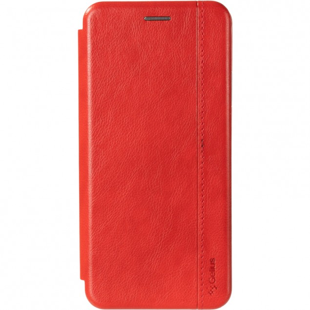 Book Cover Leather Gelius for Xiaomi Redmi 9Т Red