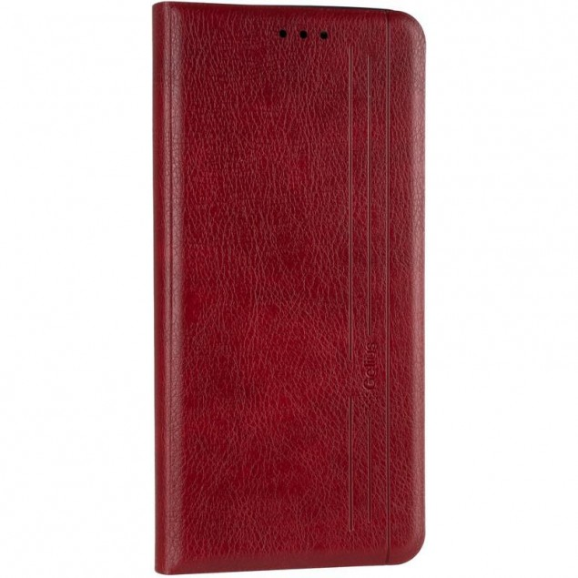 Book Cover Leather Gelius New for Samsung M317 (M31s) Red