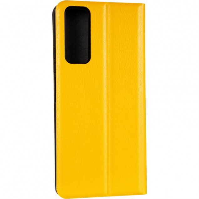 Book Cover Leather Gelius New for Huawei P Smart (2021) Yellow