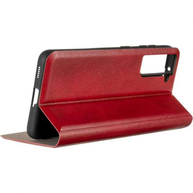 Book Cover Leather Gelius New for Samsung G991 (S21) Red