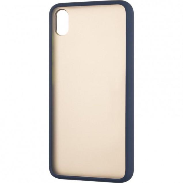 Gelius Bumper Mat Case for Xiaomi Redmi 7a Blue
