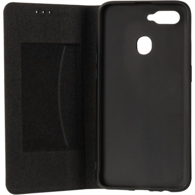 Book Cover Leather Gelius New for Oppo A12 Black